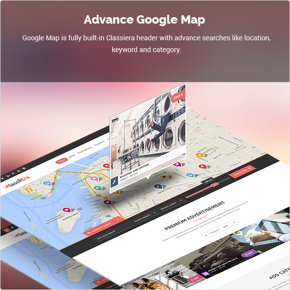 Classified theme with Google Maps