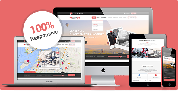 Responsive classified theme