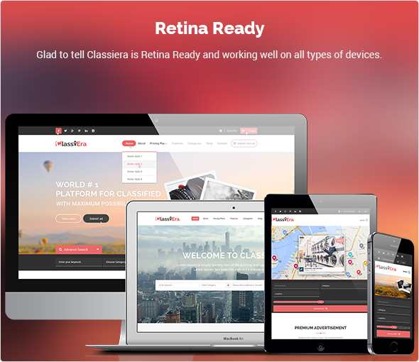 retina ready classified theme