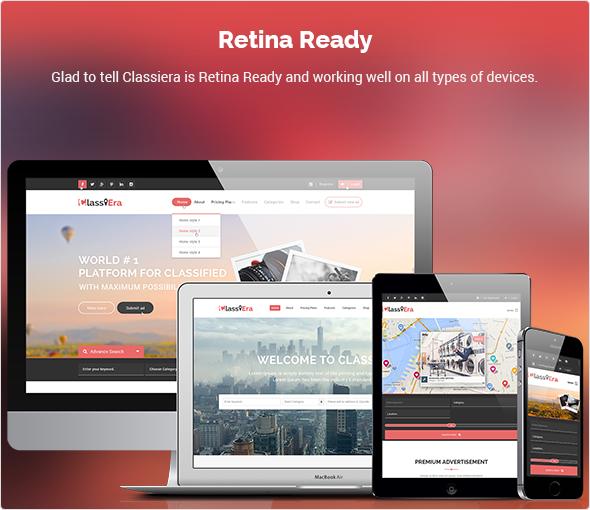 retina ready classified theme
