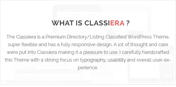 What is Classiera Classified WordPress Theme