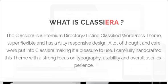 What is Classiera Classified WordPress Theme